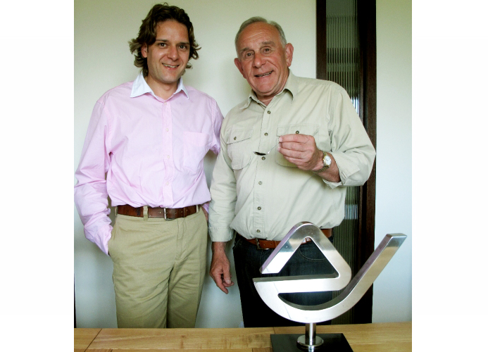 Sugarmark's Ben Eastick with designer Roger Simmons