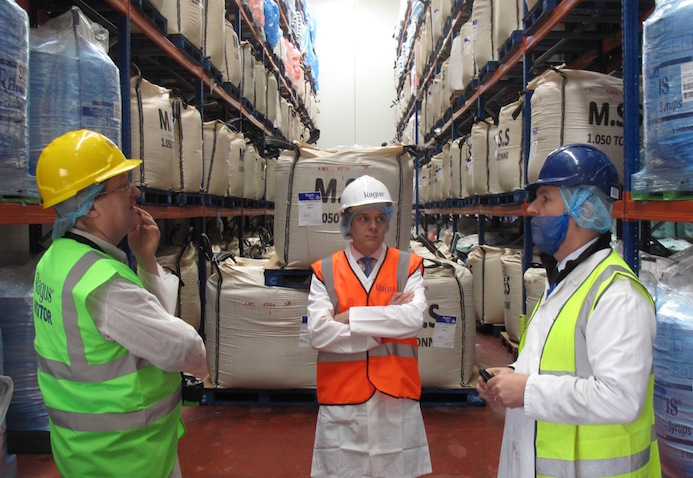 Ben Eastick, Steve Curtis & Mel Boyle With Raw Materials In Goods Section