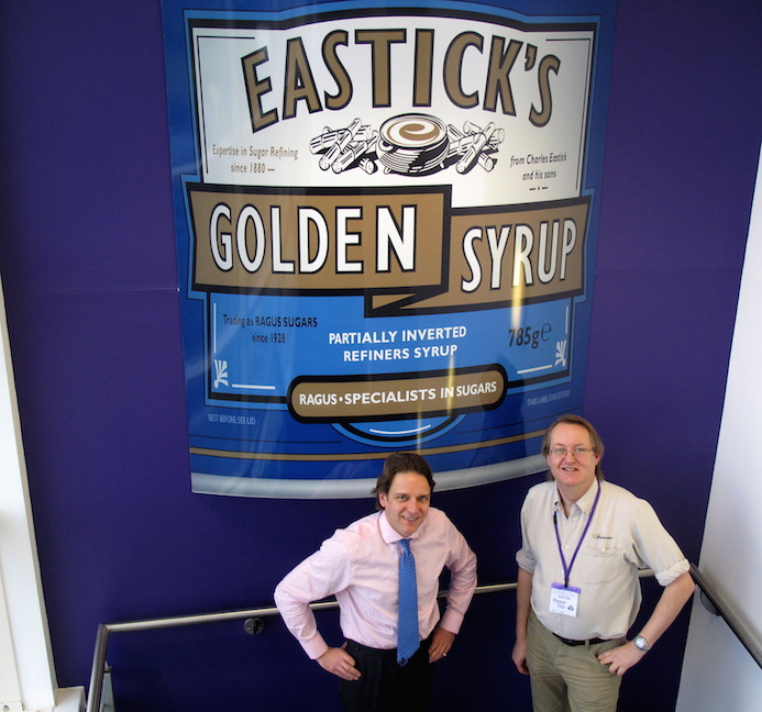 Ben Eastick & Steve Curtis With Golden Syrup
