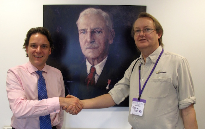 Ben Eastick & Steve Curtis With Portrait Of Charles Eastick