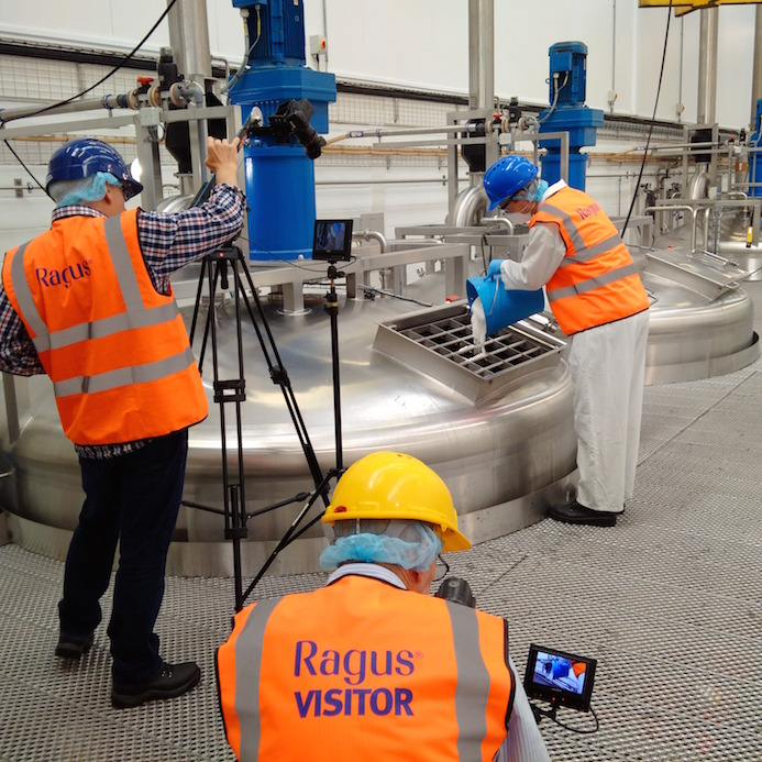 Manufacture of Golden Syrup Made From Pure Sugars Being Filmed at the Ragus UK Sugar Facility