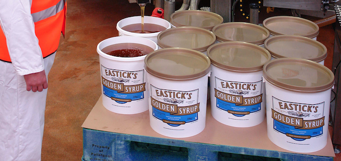 Ragus Founders Golden Syrup Eastick's Being Filled Into 25kg Containers