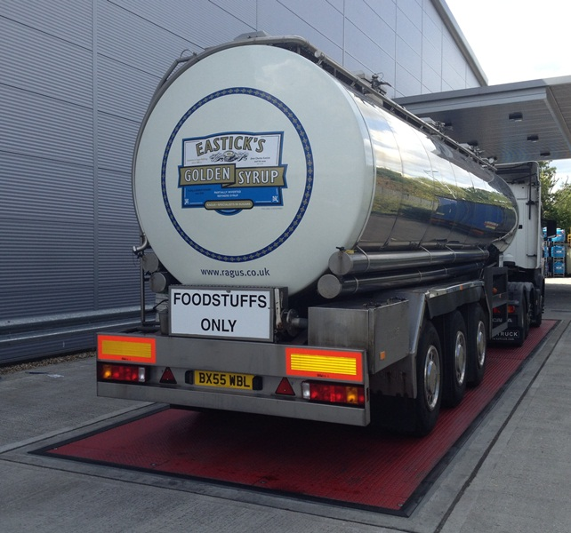 Ragus Tanker Containing 25 Tonnes of Eastick's Golden Syrup on the Weigh Bridge at Ragus UK production Facility