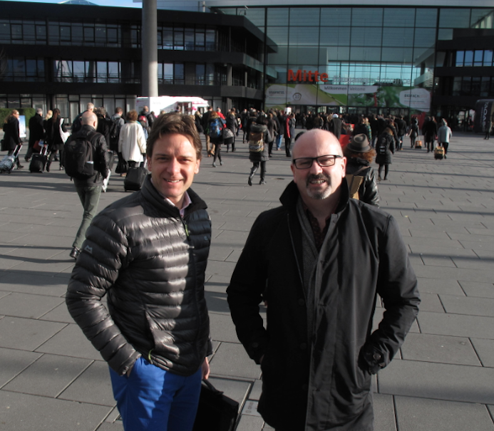 Ragus Marketing Director Ben Eastick and Commercial Manager Frank O'Kelly at the Nuremburg Messe trade fair centre.