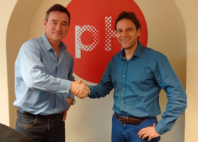 Adam Donald Director of pH Design and Print with Ragus Marketing Director Ben Eastick