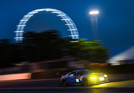 Local ice cream manufacturer Beechdean hired Ragus supported driver Oliver Bryant to race their Aston Martin V8 Vantage GTE in the Le Mans 24 hrs