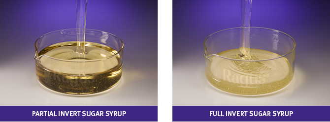 comparison of partial invert sugar syrup and full invert sugar syrup
