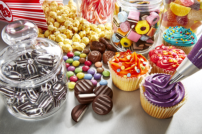 Close up of beautiful confectionery