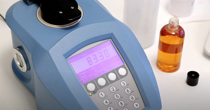 Analysing the Brix of sugar syrup using refractometer