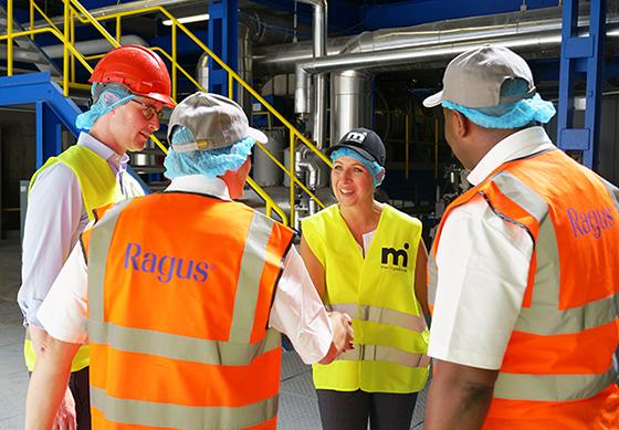 Meeting staff in Czech Republic sugar processing plant