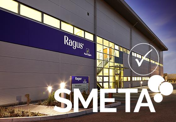 Ragus sugars passes SMETA audit. Photo of Ragus factory with SMETA logo on top