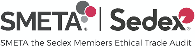 Image of SMETA logo. The Sedex Members Ethical Trade Audit